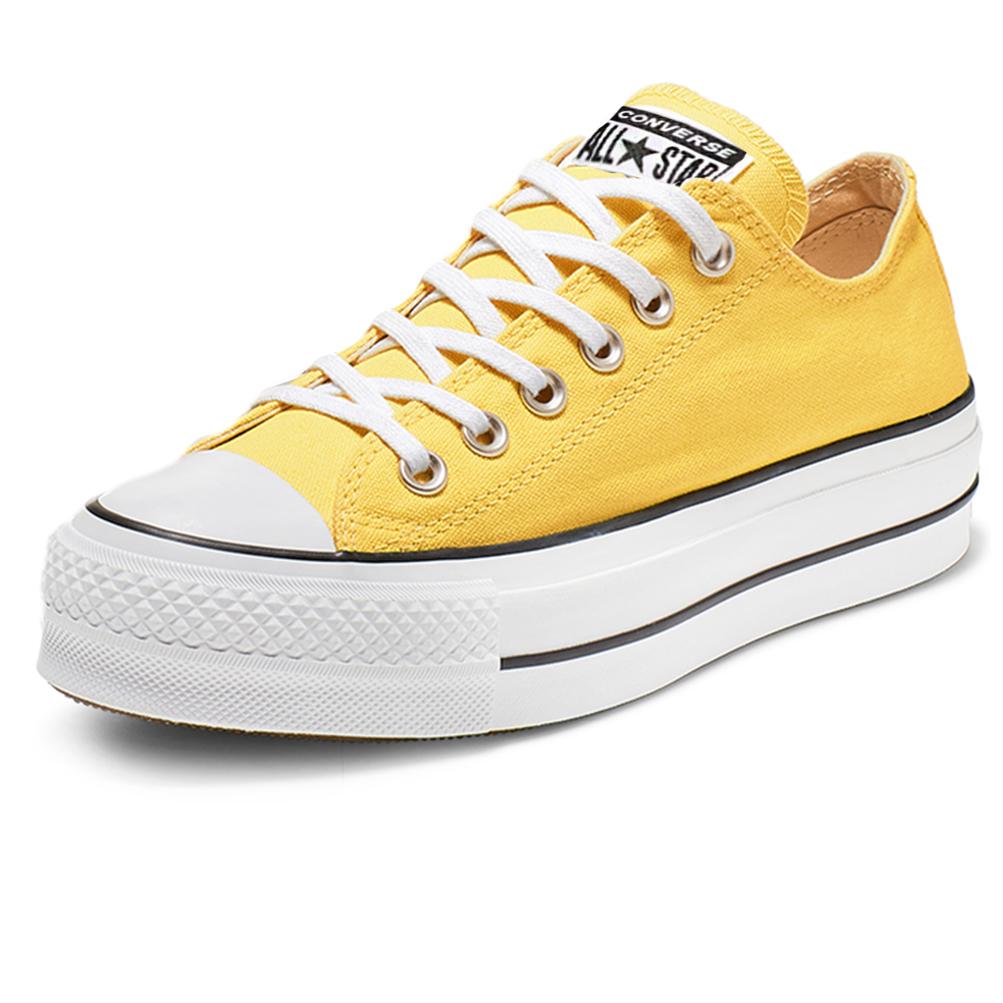 Détails sur Chaussures Converse Chucks Taylor All Star Platform Layer Bœuf 564385C Jaune