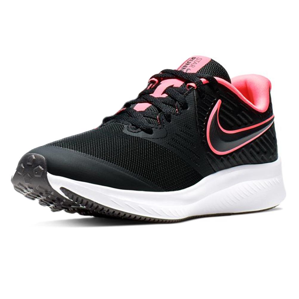 Dettagli su Scarpe Nike Nike Star Runner 2 (Gs) Taglia 38.5 AQ3542 002 Nero