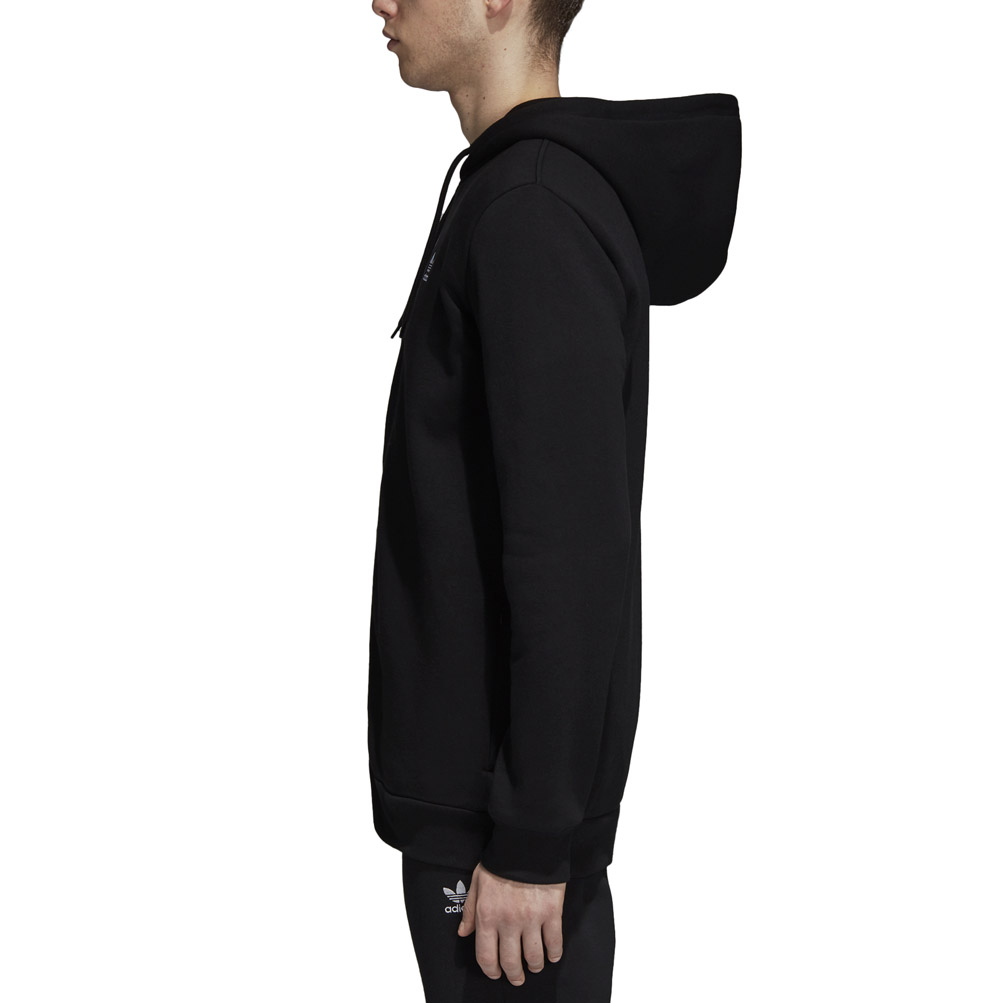 Détails sur Sweat Hommes Adidas Originals Toison Trefoil à Capuche Noir Code DN6016