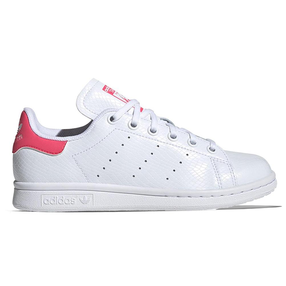 Dettagli su Scarpe Adidas Stan Smith J Taglia 37 13 EE7573 Bianco